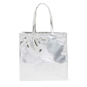 Ted Baker London Silver Mirrored Large Icon Tote